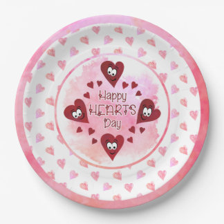 HAPPY HEARTS DAY Valentine Party Paper Plate