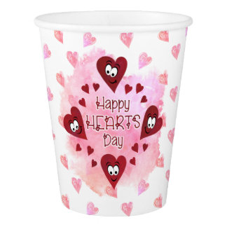 HAPPY HEARTS DAY, Valentine's Party Paper Cup