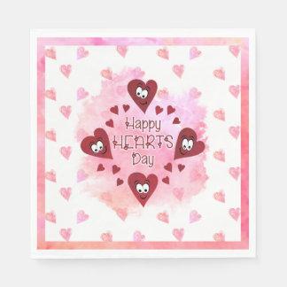 HAPPY HEARTS DAY | Valentine's Party Paper Napkin