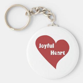 Happy hearts full of joy basic round button key ring