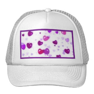 Happy Hearts Holiday Love Surprise Trucker Hats