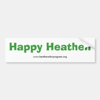 Happy Heathen Bumper Sticker - with web address