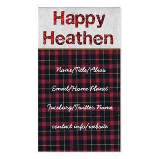 Happy Heathen Double-Sided Standard Business Cards (Pack Of 100)