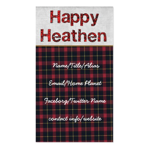 Happy Heathen Business Card Templates