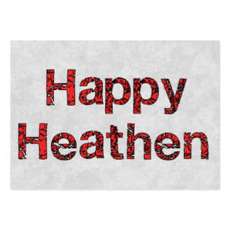 Happy Heathen Large Business Cards (Pack Of 100)