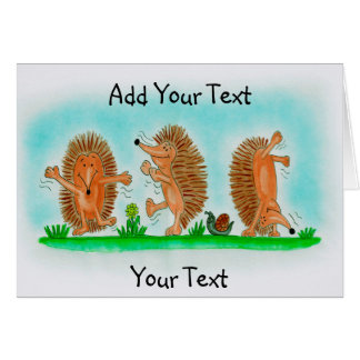 Happy Hedgehogs Drawing Card