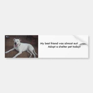 Happy Henry, My best friend was almost euthaniz... Bumper Sticker