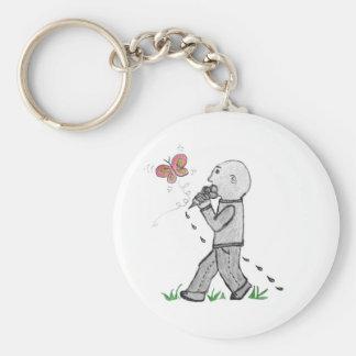 Happy Herbert has ice cream Key Chain