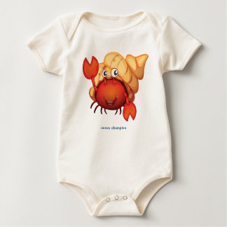 Happy Hermit Crab Baby Bodysuit