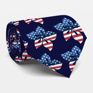 Happy Hibiscus USA Two-sided Printed Tie