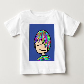 Happy Hippie boy cartoon Baby T-Shirt