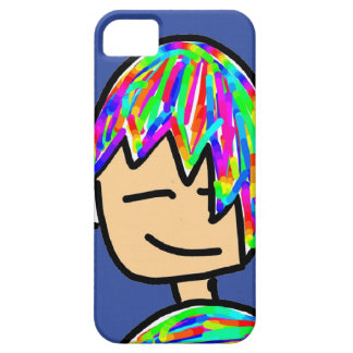 Happy Hippie boy cartoon Case For The iPhone 5