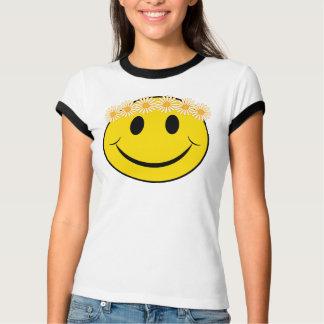 Happy Hippie Daisy Face T-Shirt