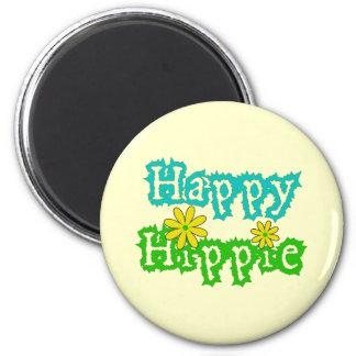 Happy Hippie Magnet