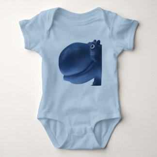 Happy Hippo Blue Baby Bodysuit