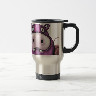 Happy Hippo Crochet Hippo Travel Mug