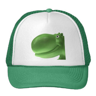 Happy Hippo Green Cap