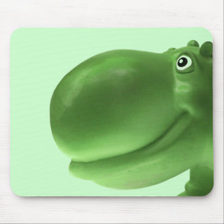 Happy Hippo Green Mouse Pad