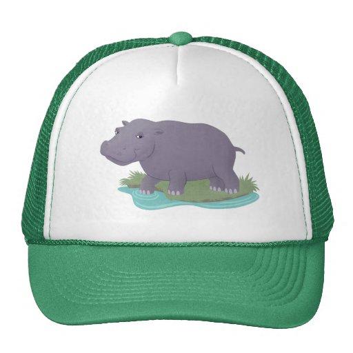 Happy Hippo Mesh Hats