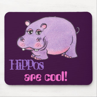 Happy Hippo - Mouse Pad
