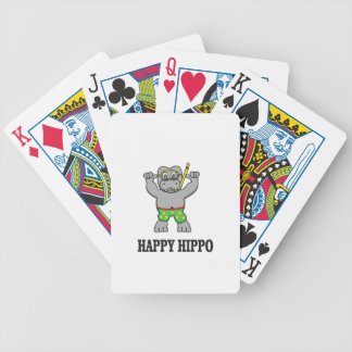happy hippo water bicycle playing cards