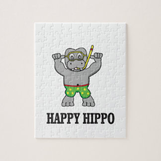 happy hippo water jigsaw puzzle