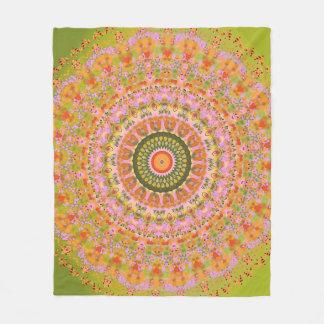 Happy Hippy Mandala Fleece Blanket