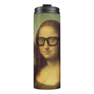 Happy Hipster Glasses Mona Lisa Leonardo da Vinci Thermal Tumbler