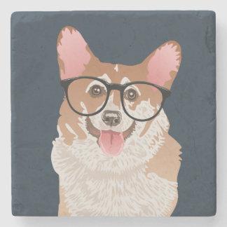 Happy Hipster Pembroke Welsh Corgi Coaster
