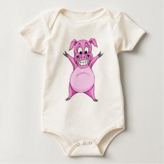 Happy Hog Baby Bodysuit