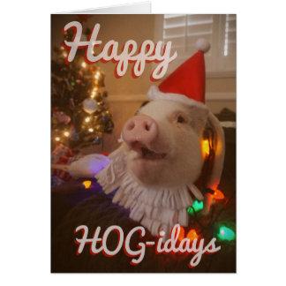 Happy HOG-idays! Card