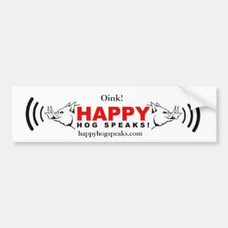 Happy Hog Speaks! copy, happyhogspeaks.com, Oink! Bumper Sticker