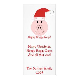 Happy Hoggy Days Christmas Cards and stationary. Rack Card Design
