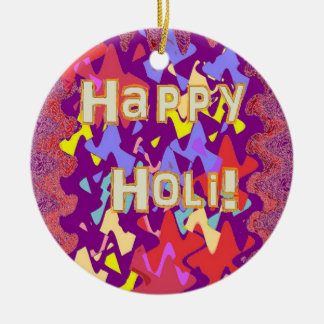 Happy Holi Hindu greeting ornament