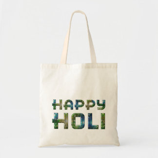 Happy Holi Hindu Spring Festival of Colors Blue