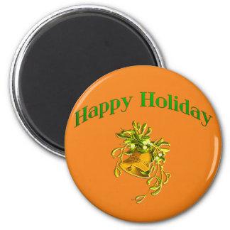 Happy Holiday 6 Cm Round Magnet
