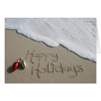 Happy Holiday Beach Card Christmas Hanukkah