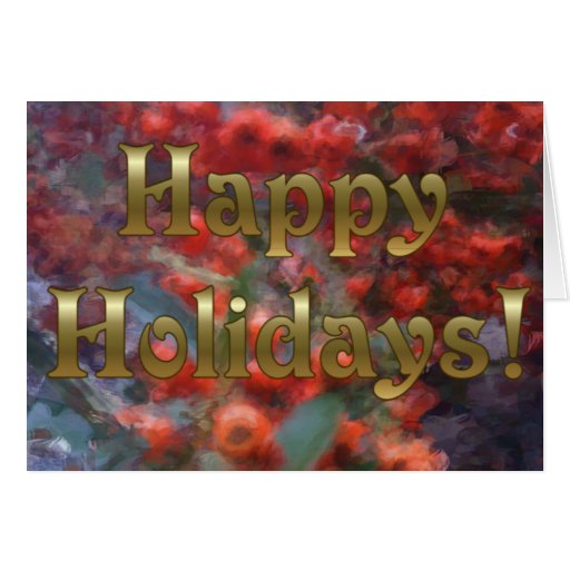 Happy Holiday Berries Card