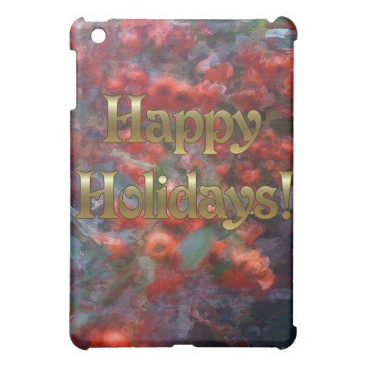Happy Holiday Berries iPad Mini Cases