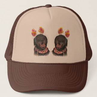 Happy Holiday Black Labrador Retriever Dogs Trucker Hat