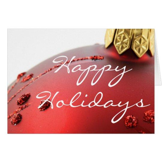 Happy Holiday Christmas Bulb Card