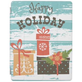 Happy Holiday Christmas Holiday Presents iPad Cover