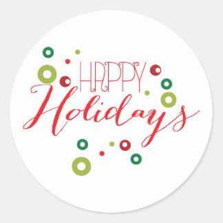 Happy Holiday Circle Sticker
