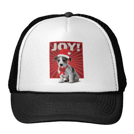 Happy Holiday Dog - Jack Russell Trucker Hat