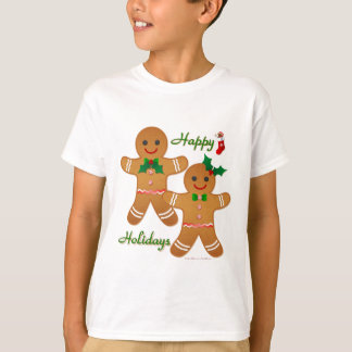 Happy Holiday Gingerbread Man Boy Girl T-Shirt