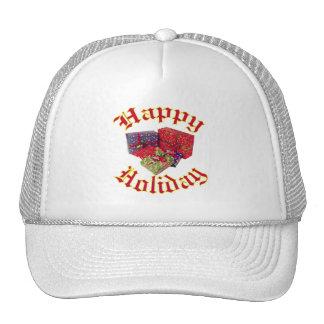 Happy Holiday Mesh Hat