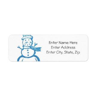 Happy Holiday Label #1 Return Address Label