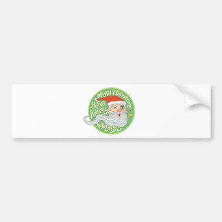 Happy Holiday Merry Christmas New Year Santa Claus Bumper Sticker
