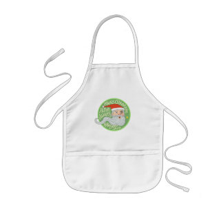 Happy Holiday Merry Christmas New Year Santa Claus Kids Apron