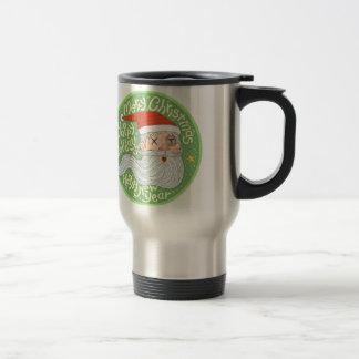 Happy Holiday Merry Christmas New Year Santa Claus Travel Mug